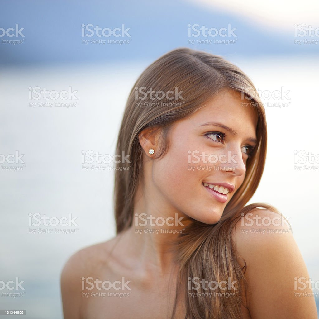 Beatiful young woman outdoor royalty-free stock photo
