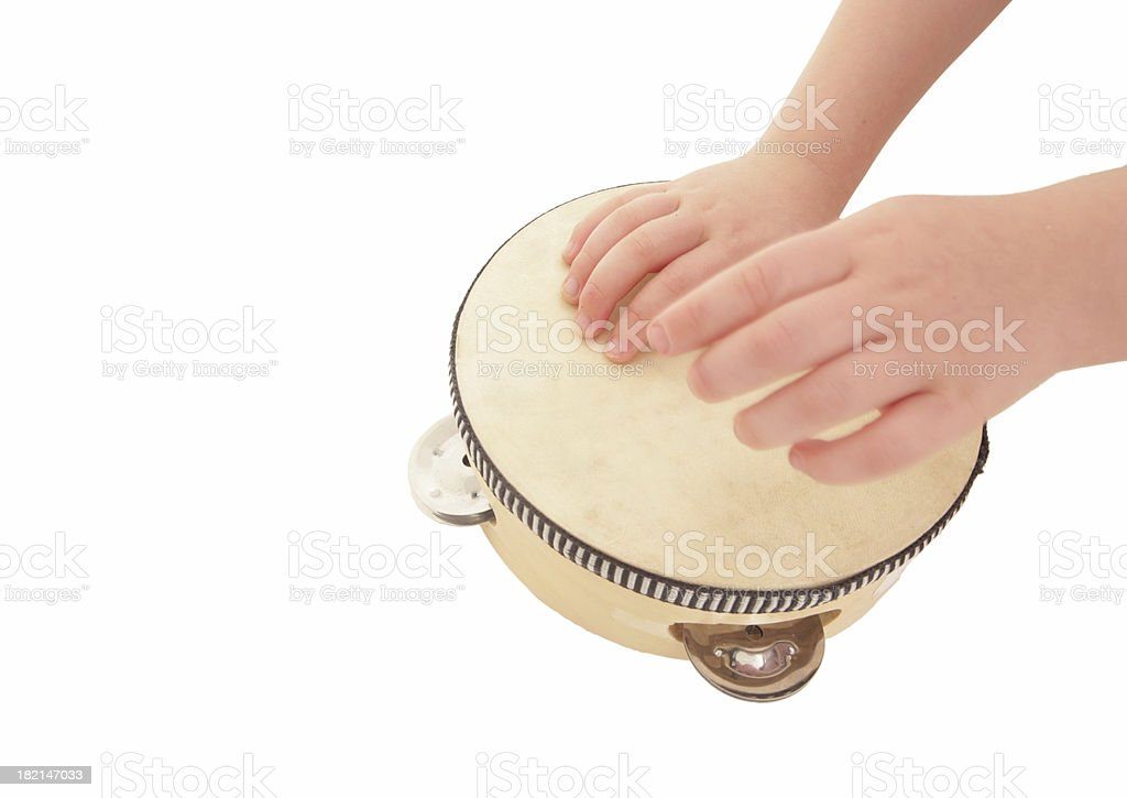 Beating the drum royalty-free stock photo