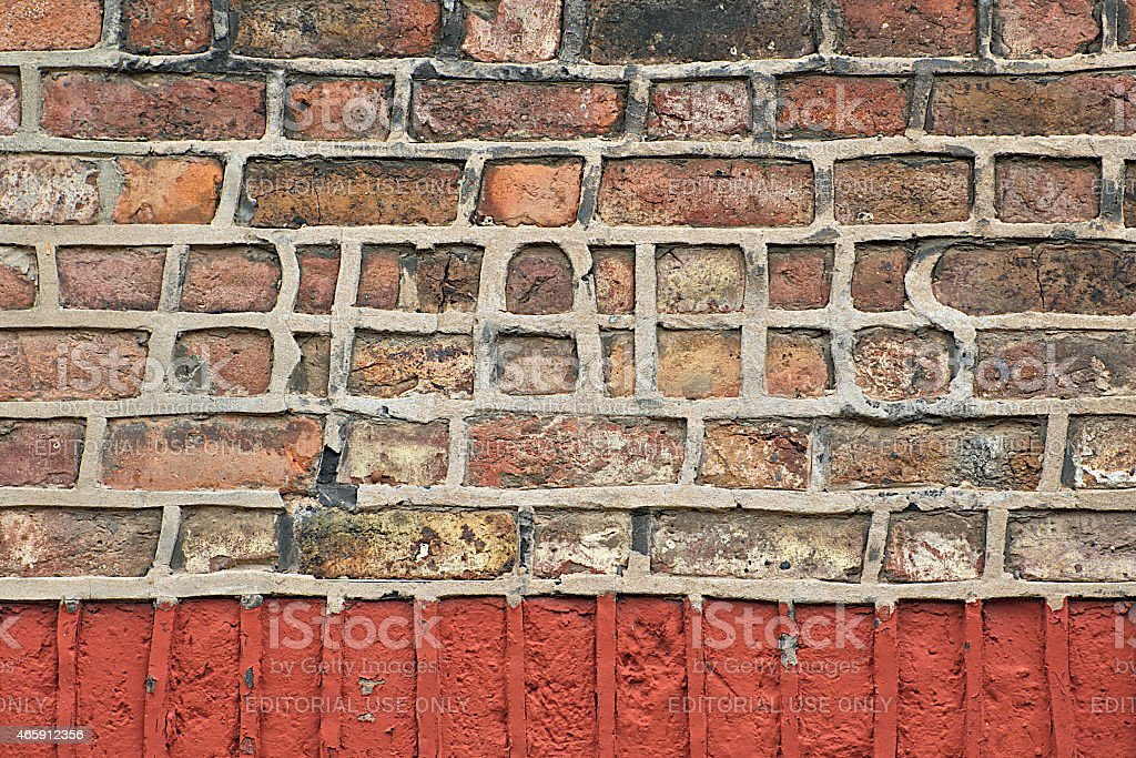 Beatles name in bricks and mortar, Liverpool stock photo