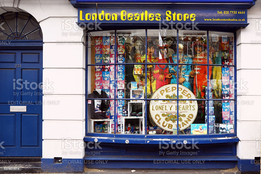 Beatles store in London stock photo