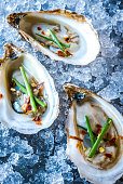 Beau Soleil Oyster with Chives and Red Pepper Flakes