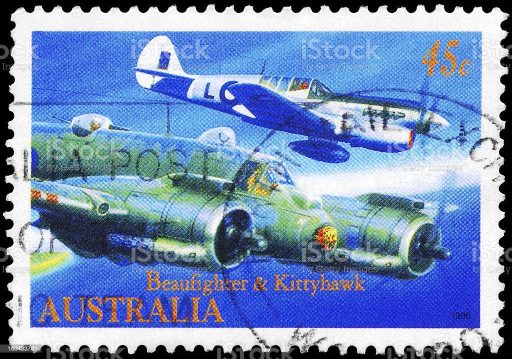 Beaufighter and Kittyhawk royalty-free stock photo