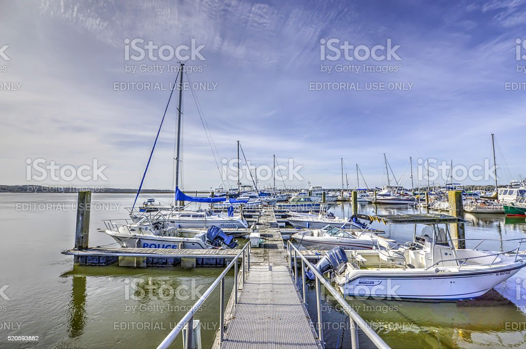 Beaufort Marina 4 stock photo
