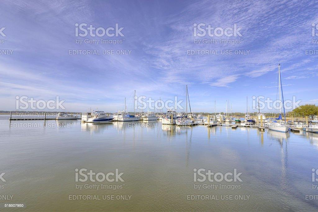 Beaufort Marina stock photo