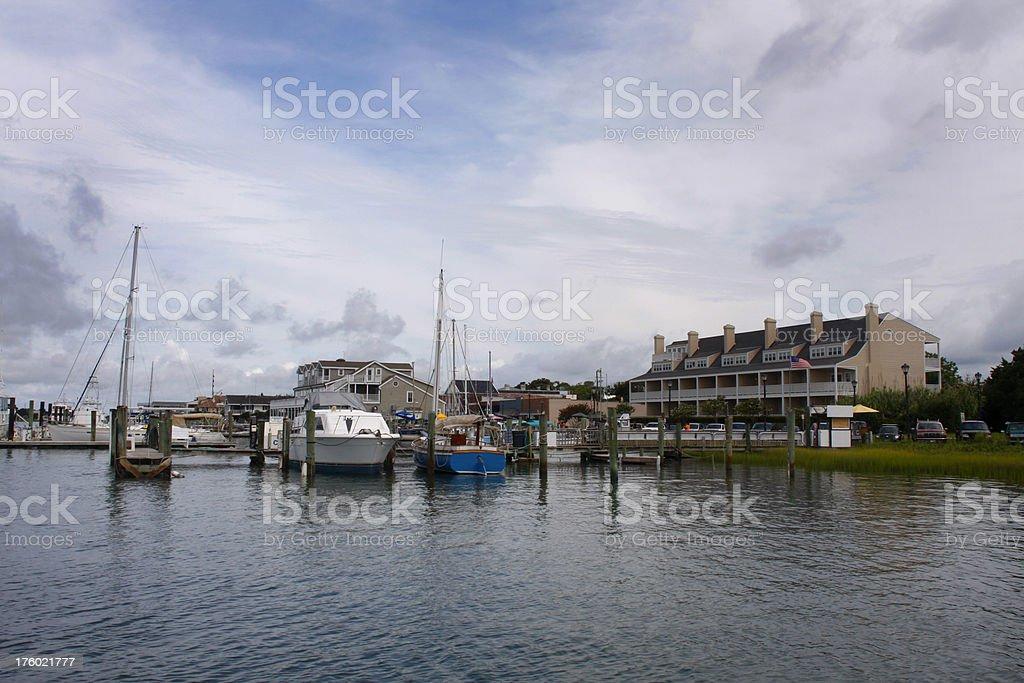 Beaufort NC waterfront stock photo