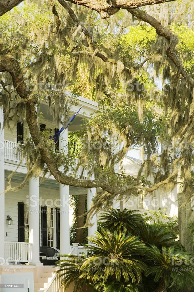 Beaufort SC: Historic Homes royalty-free stock photo