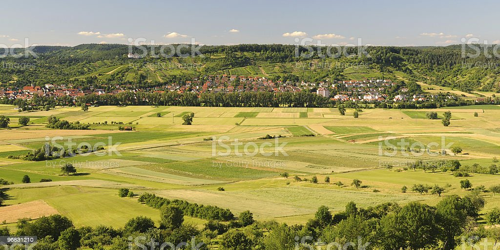 Beauitful Swabian Countryside Germany Summer royalty-free stock photo