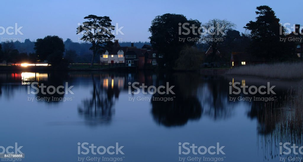 Beaulieu Lake stock photo