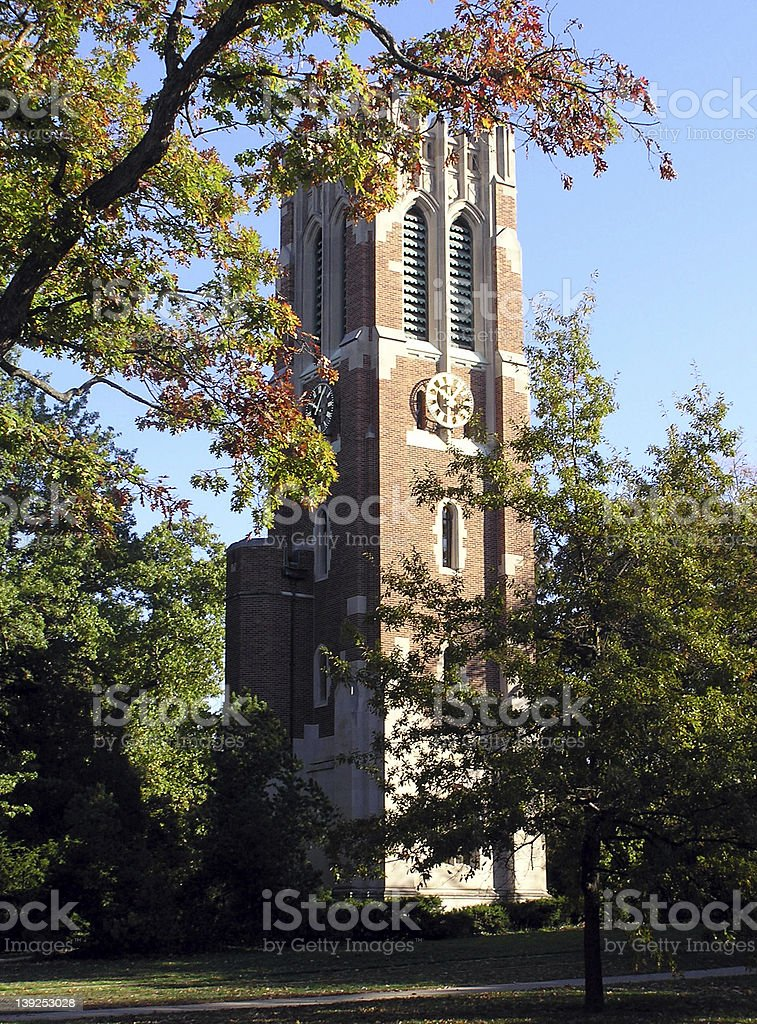 Beaumont Tower, Michigan State University stock photo