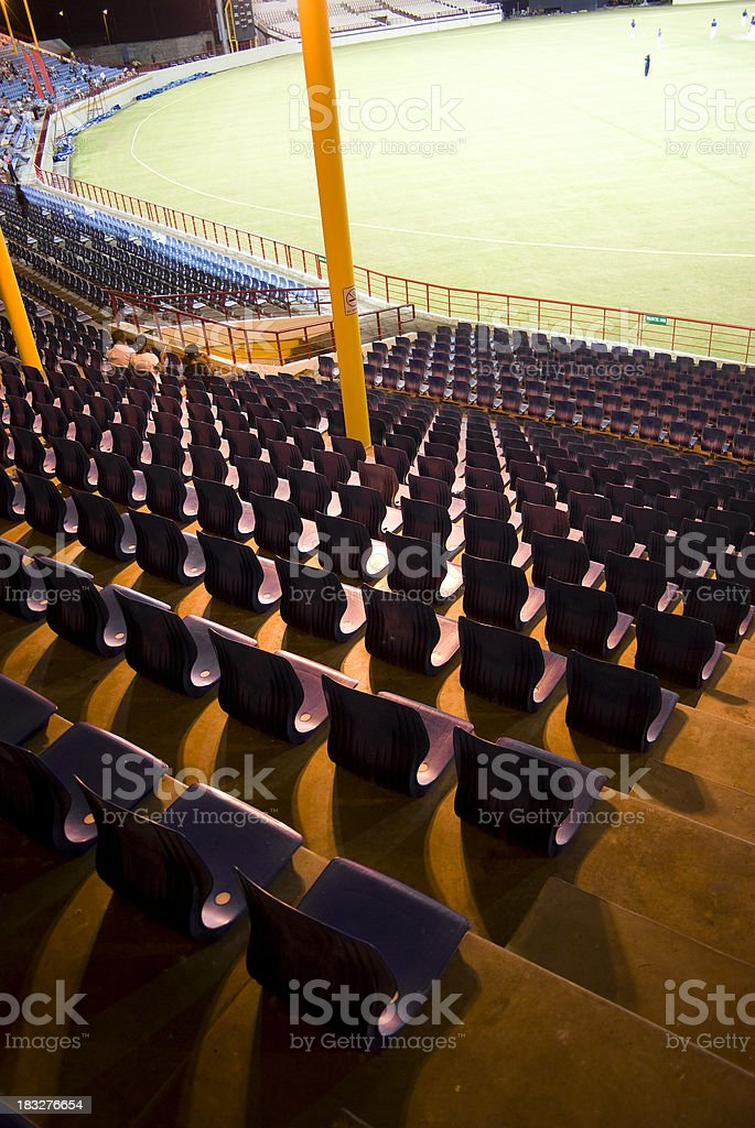 Beausejours Cricket grounds - stadium at night stock photo