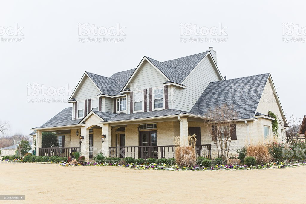 Beautifu modernl two-story home stock photo