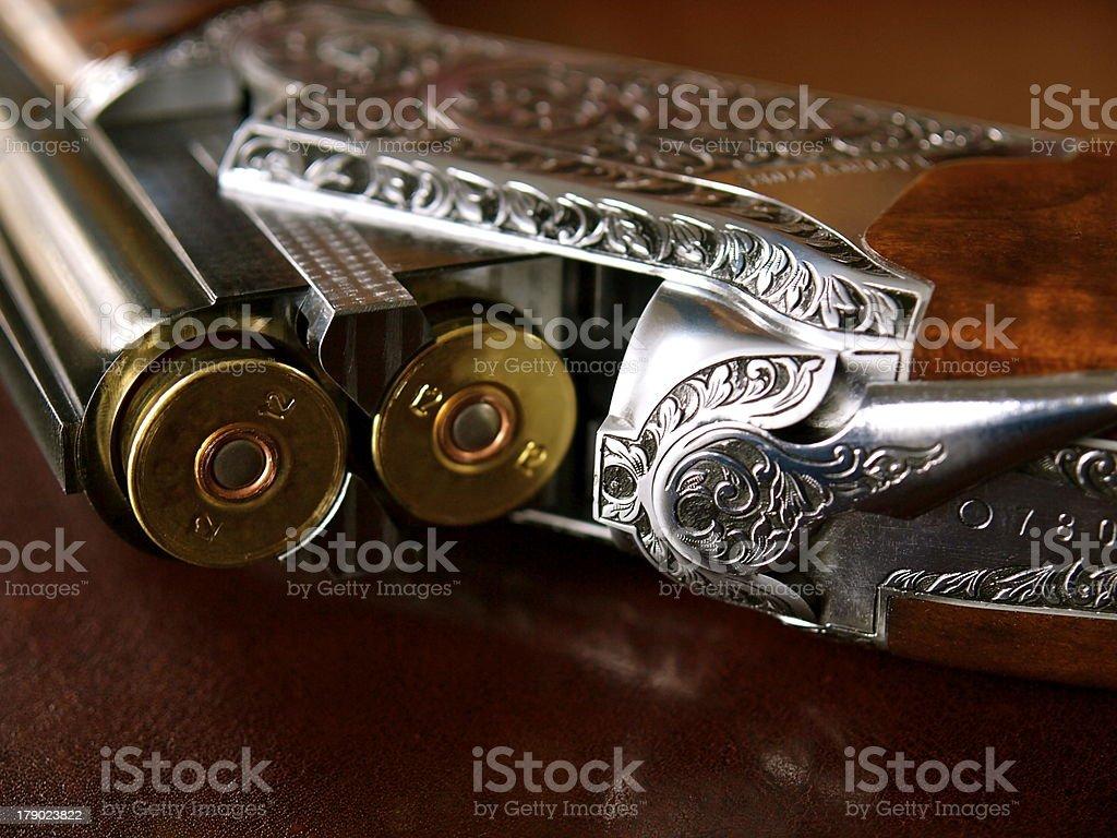 Beautiful 12 GA. Over/Under Shotgun stock photo
