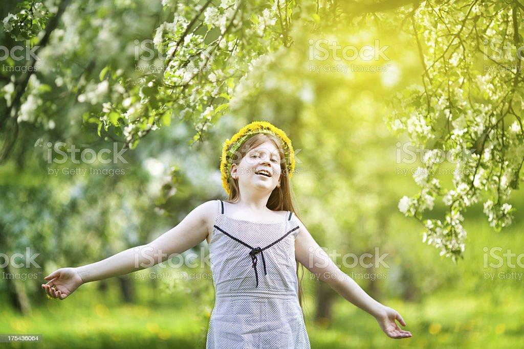 Beautiful 12 year old girl royalty-free stock photo