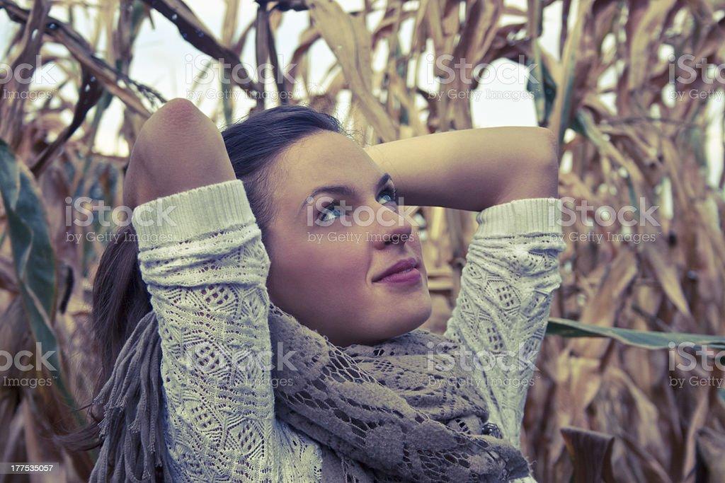 아름다운 키런 왜고너의 여자 루킹 바라요 royalty-free 스톡 사진