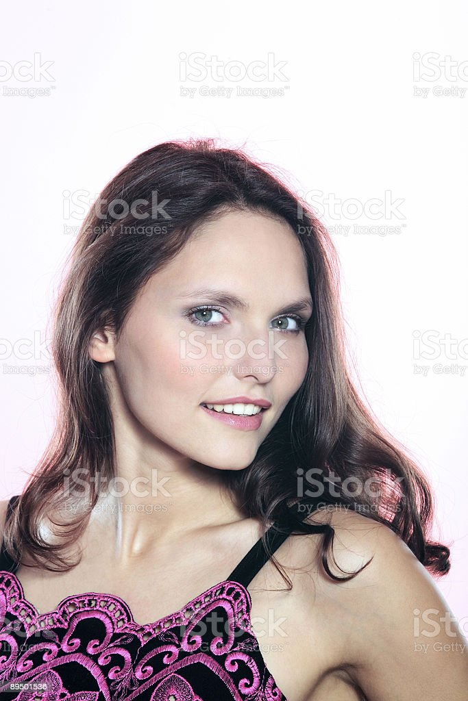 beautiful 25 years old smiling woman royalty-free stock photo