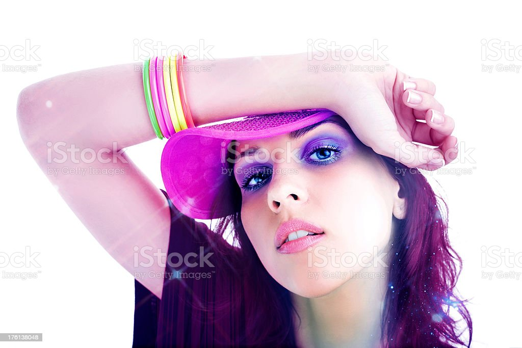 Beautiful 80's Disco Teen royalty-free stock photo