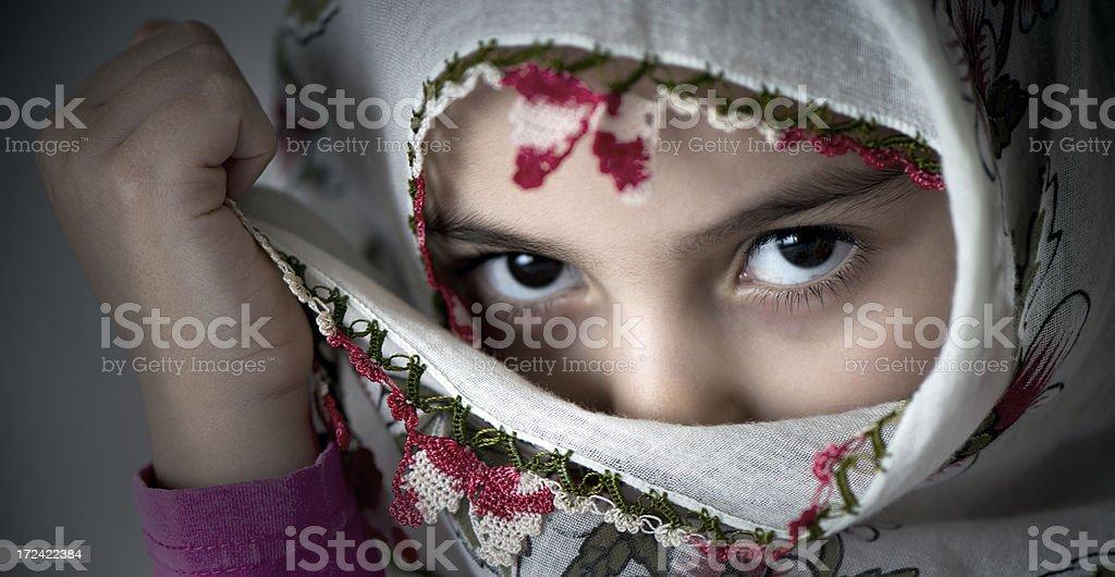 Beautiful a little Turkish girl royalty-free stock photo