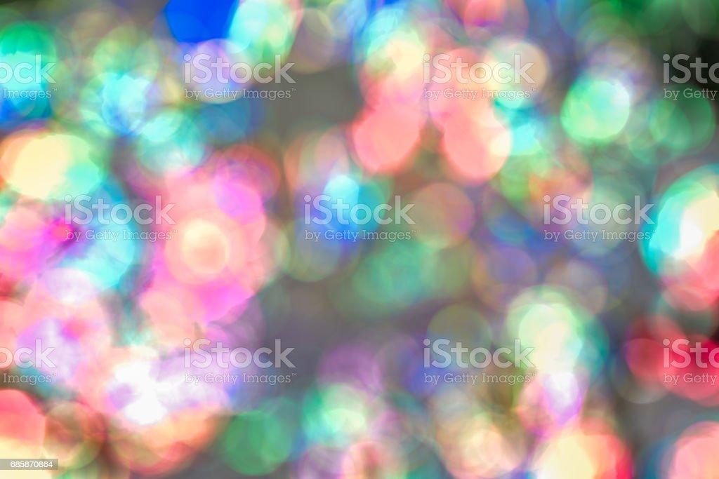 Beautiful abstract multicolor bokeh stock photo