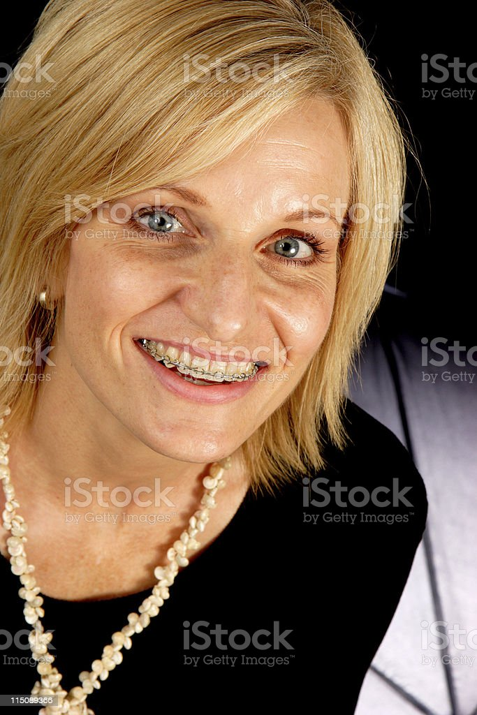 beautiful adult middle aged female royalty-free stock photo