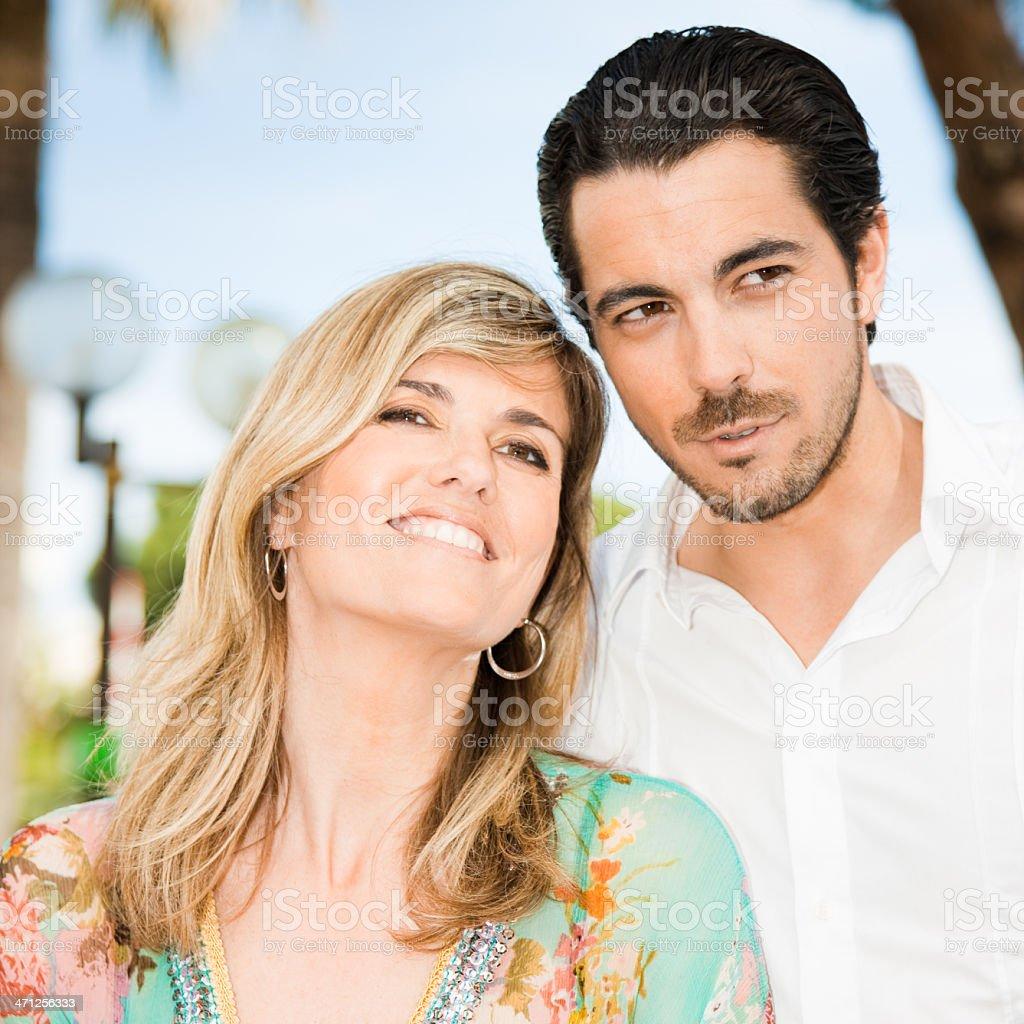 Beautiful Adult Summer Couple royalty-free stock photo