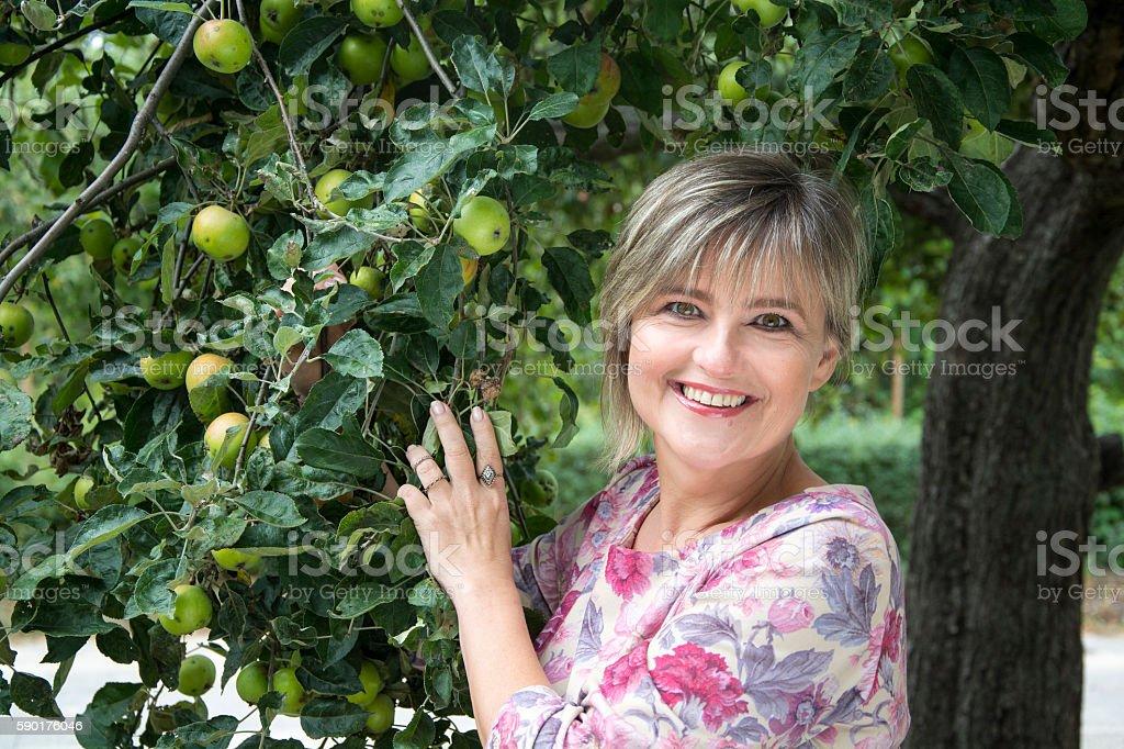 Beautiful adult woman. stock photo
