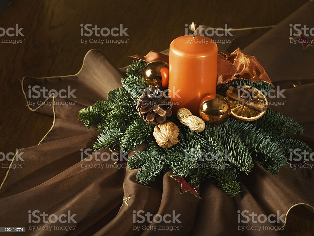 Beautiful Advent Wreath royalty-free stock photo