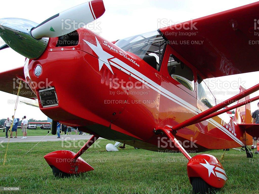 Beautiful aerobatic 2012 American Champion Aircraft 8KCAB Super Decathlon. stock photo