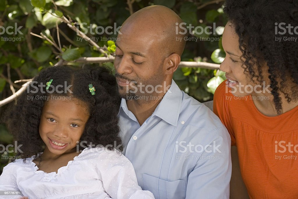 Beautiful African American Family royalty-free stock photo