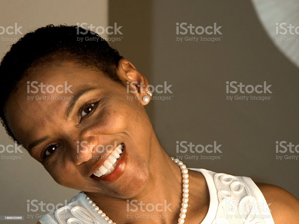 Beautiful African American Woman - 3 stock photo