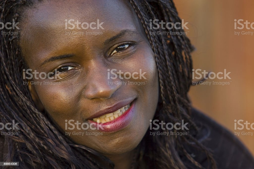 Beautiful African American Woman Smiling royalty-free stock photo