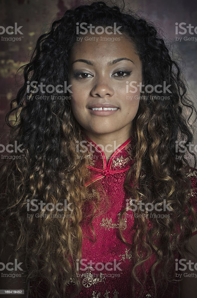 Beautiful African American Young Woman royalty-free stock photo