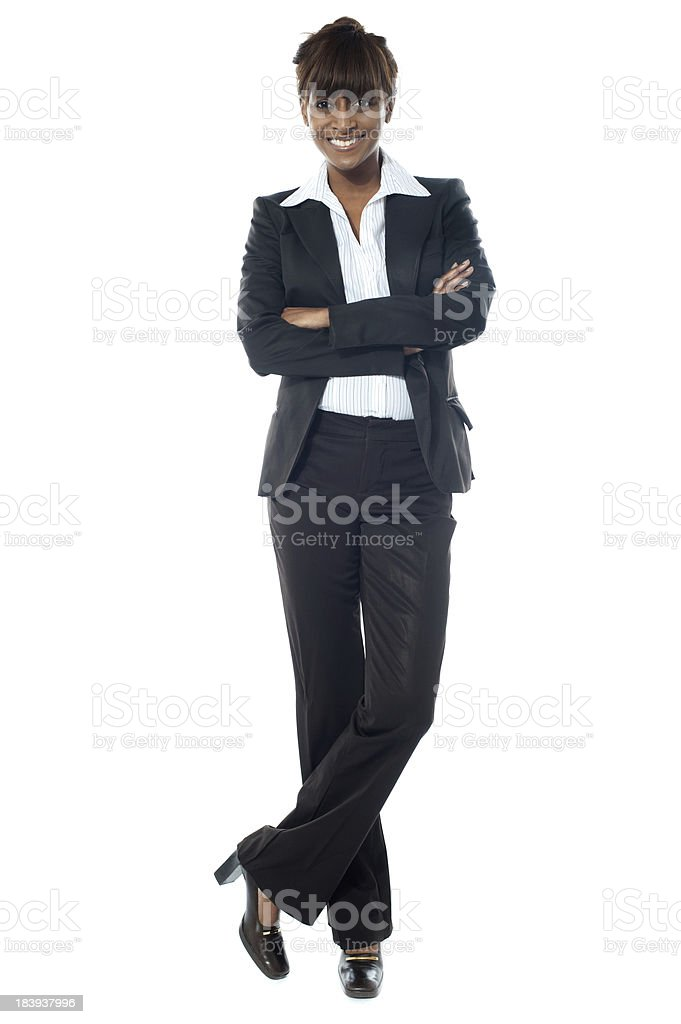 Beautiful African business lady posing royalty-free stock photo