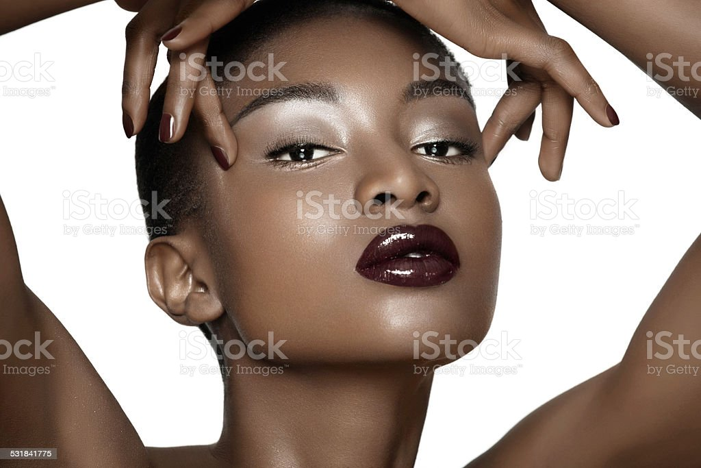 Beautiful African Woman stock photo
