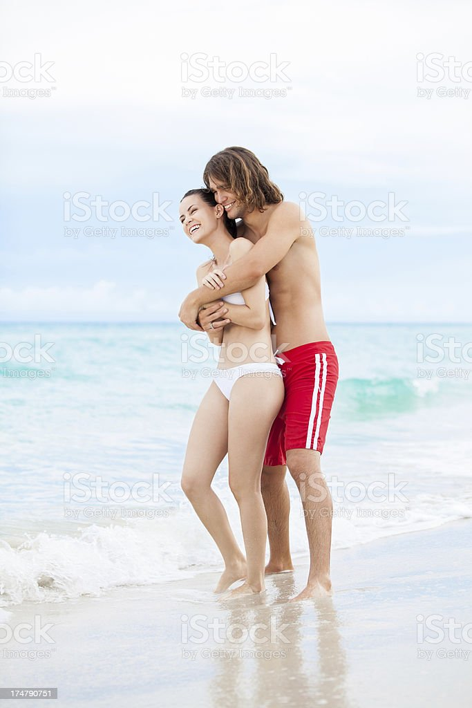 Beautiful african-american couple on vacations royalty-free stock photo
