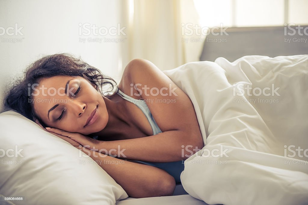 Beautiful Afro American woman stock photo