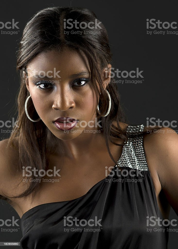 Beautiful afrocaribbean young woman royalty-free stock photo