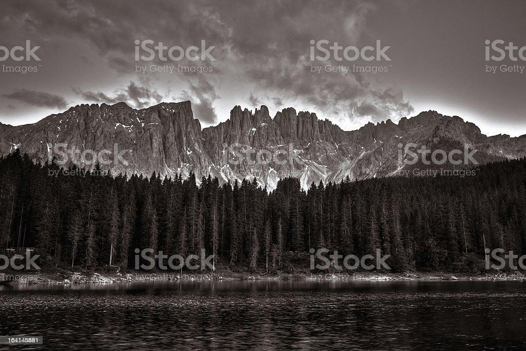 Beautiful Alpine Lake, Dolomites, Italy royalty-free stock photo