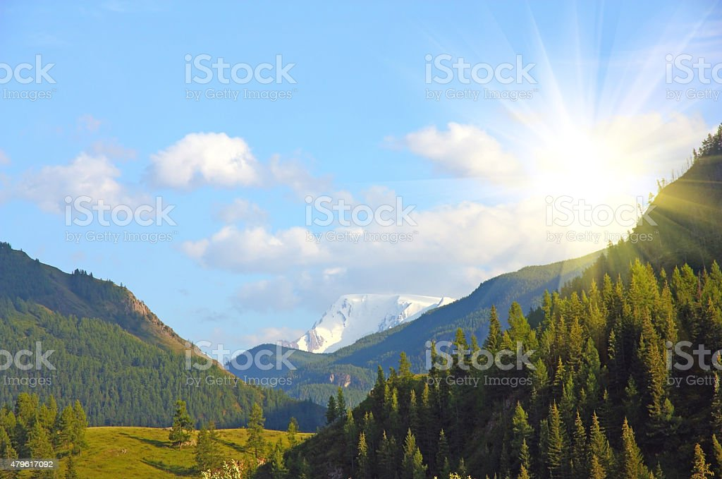 beautiful altai mountain stock photo