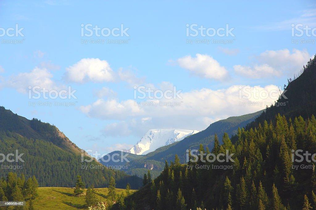 beautiful altai mountain valley stock photo