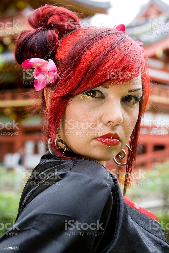 Beautiful Alternative Asian Girl Portrait royalty-free stock photo