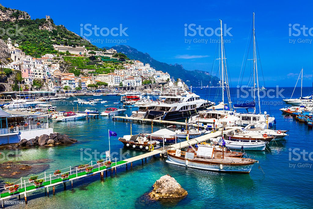 Beautiful Amalfi,Campania,Italy. stock photo