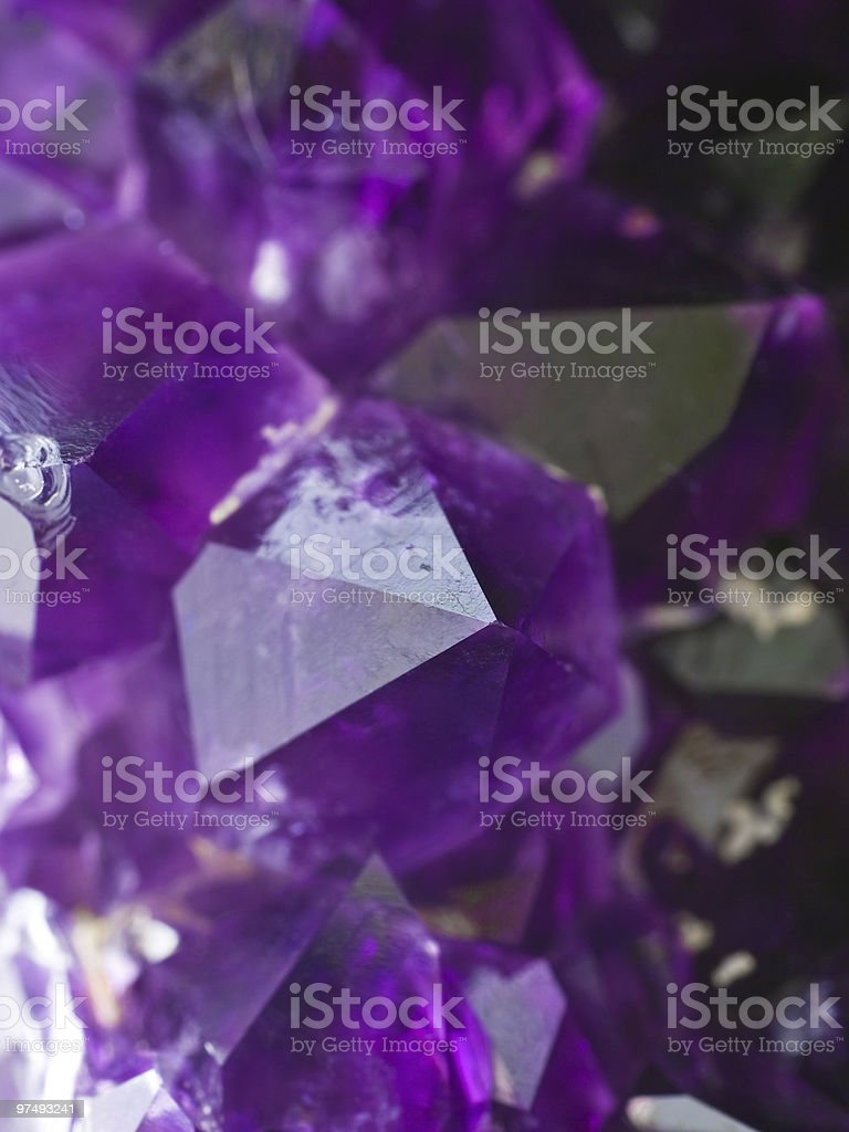 Beautiful amethyst druse close-up royalty-free stock photo