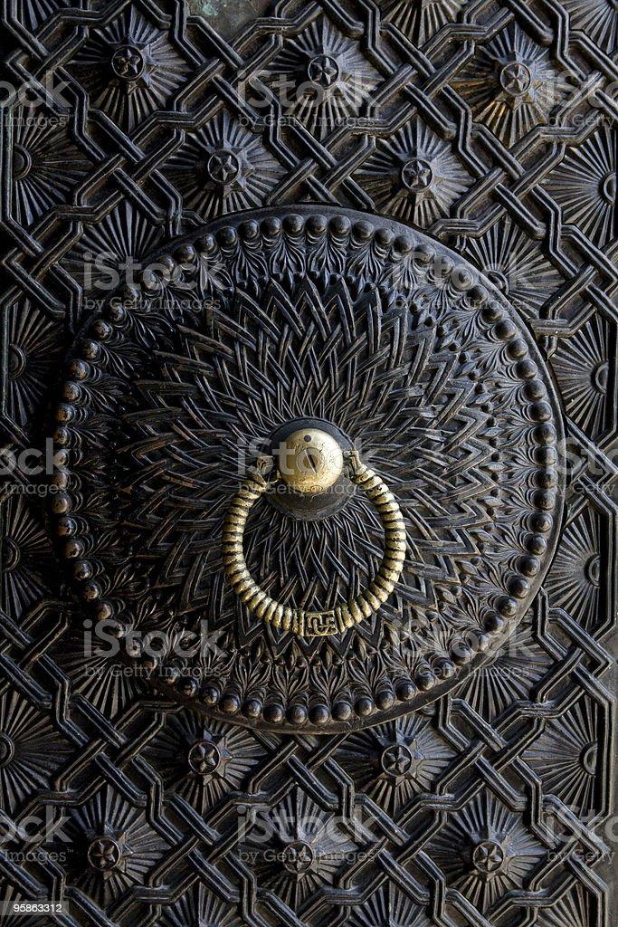 beautiful ancient door lock royalty-free stock photo