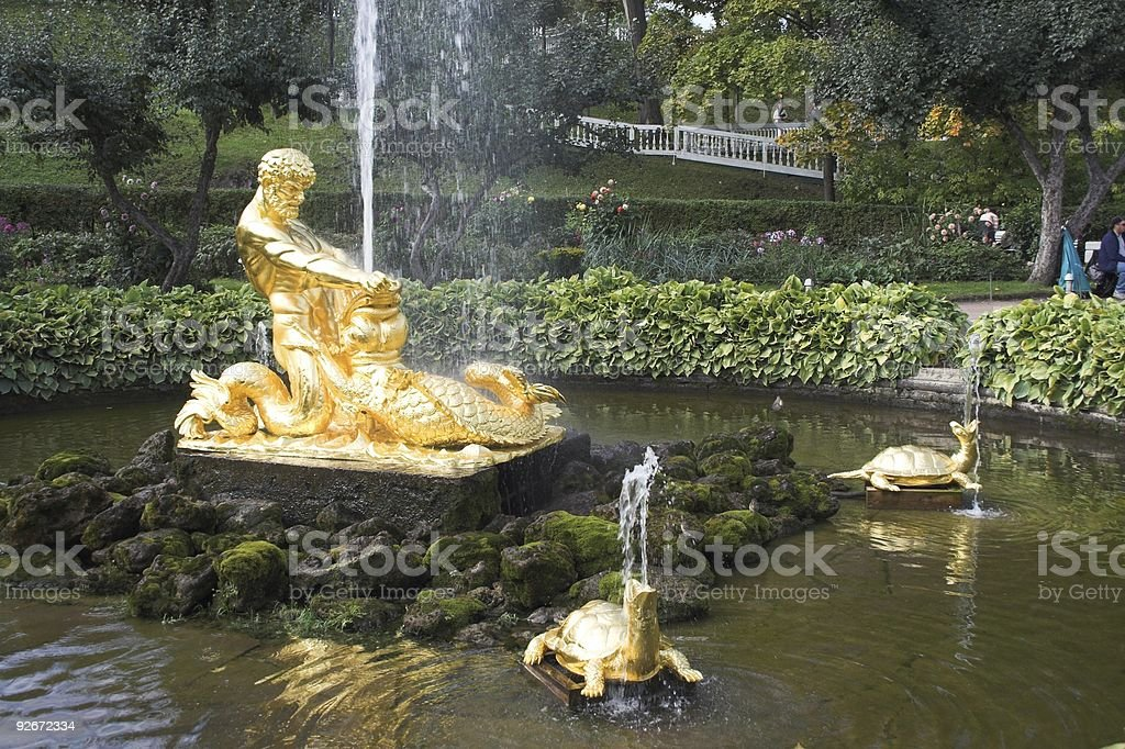 Beautiful ancient fountain stock photo