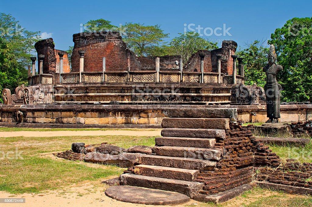 Beautiful ancient hinduist temple  in Sri Lanka stock photo