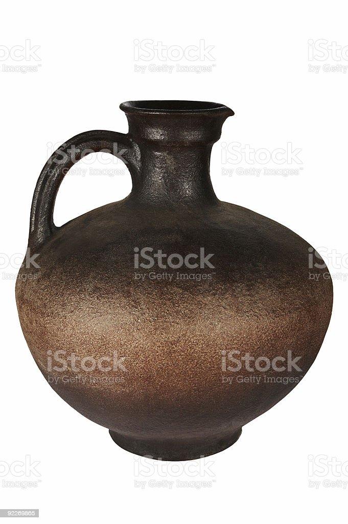 Beautiful ancient jug royalty-free stock photo