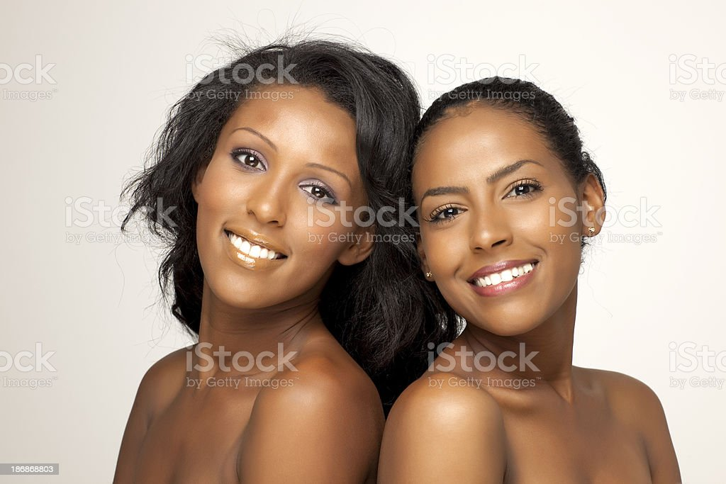 Beautiful and attractive african women. stock photo