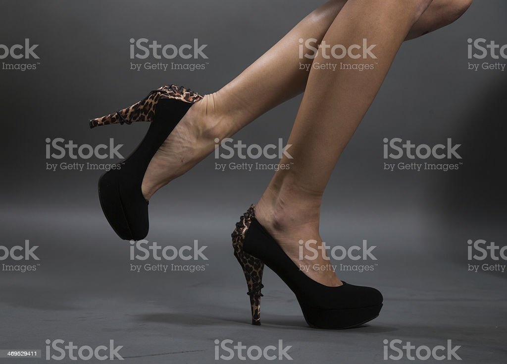 beautiful and attractive woman legs stock photo