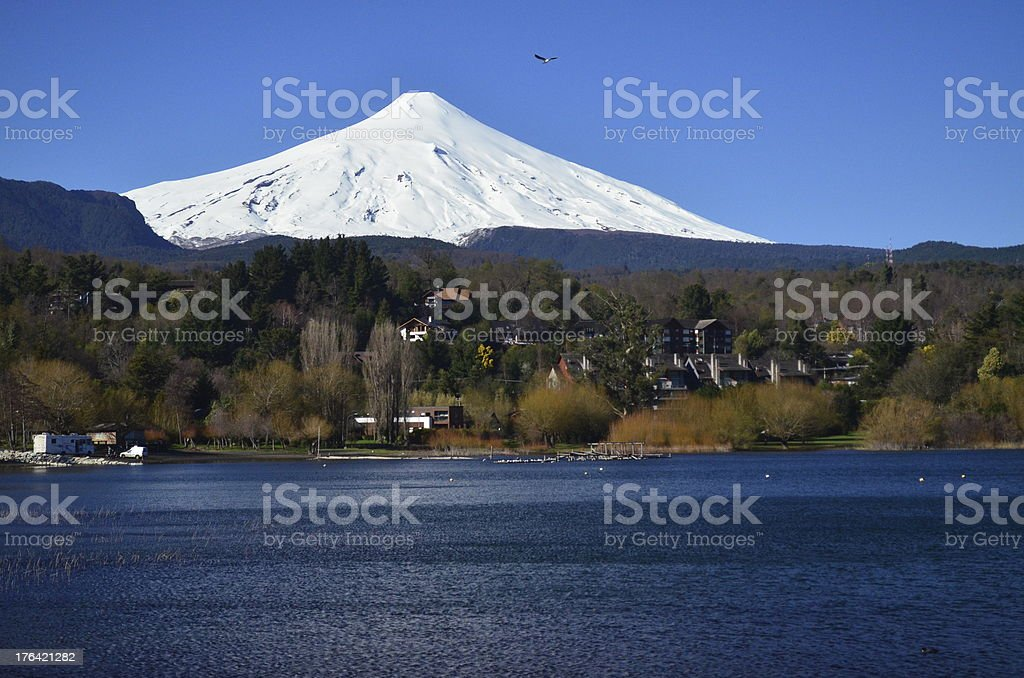 Beautiful and colored day in Chile royalty-free stock photo
