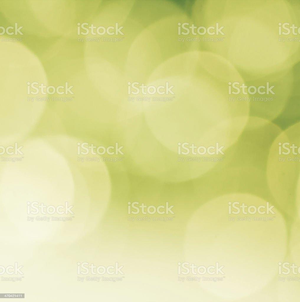 Beautiful and colorful bokeh background in green stock photo